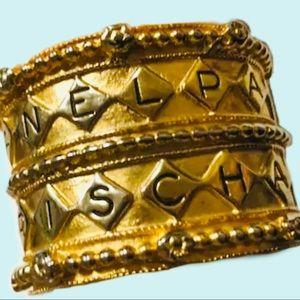 Magnificent CHANEL Vintage runway cuff bracelet